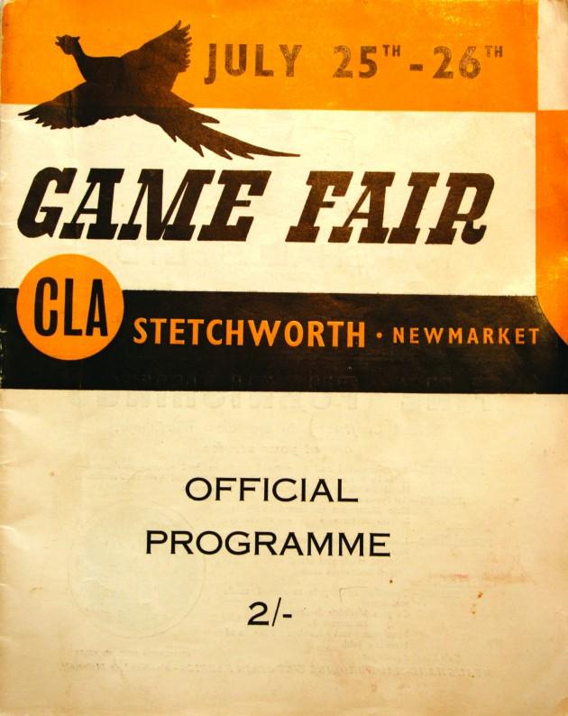1958 CLA Game Fair programme