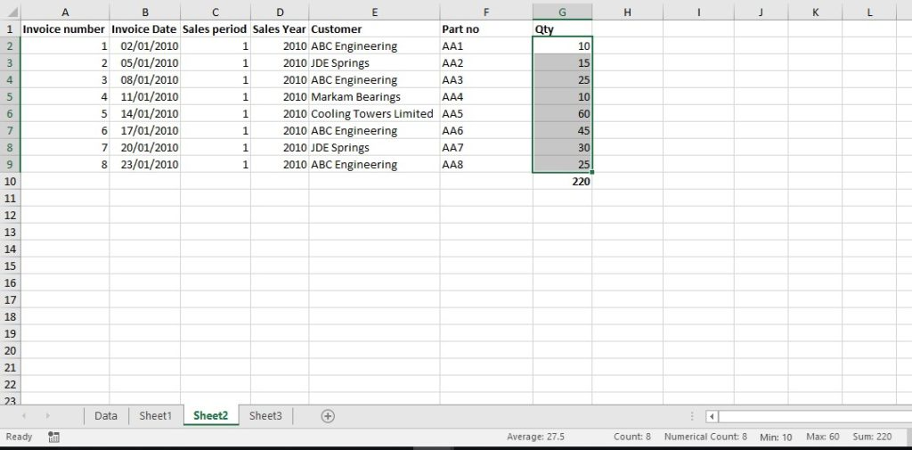 Excel worksheets Autocalculate image