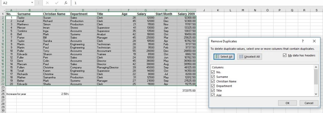 Excel worksheets Duplicates image 2