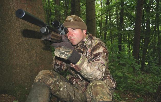 man with air rifle