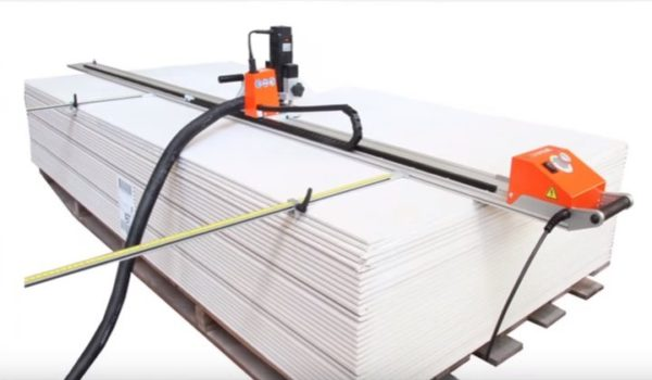 Image showing the Flextos Supercut XPM mobile milling machine which Taylor Hart, as innovative dry lining contractors, use.