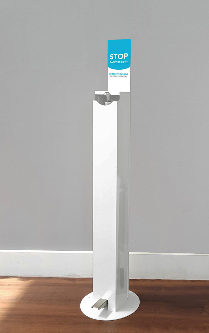 Wrights Plastics reduce price of hand sanitiser stations for better access