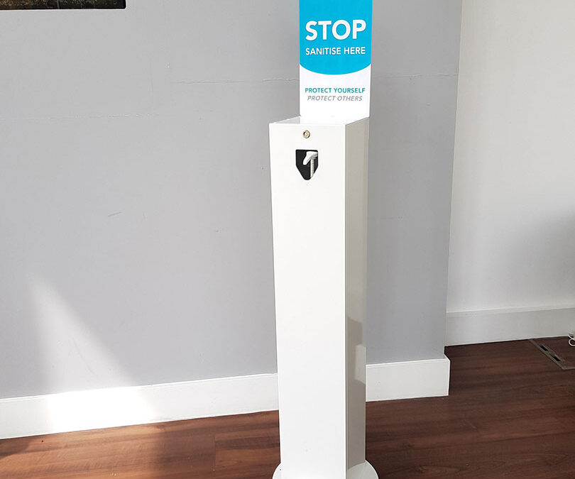 Demand increases for Wrights Plastics Group Hand Sanitiser stations